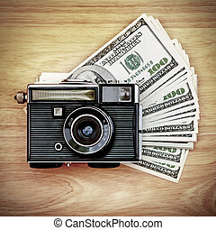 Vintage Camera on the Money - Vintage Camera And Money on...