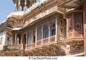 Haveli, mansion in Pushkar, Rajasthan, India