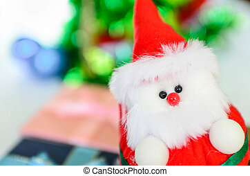 Close up Santa doll wi