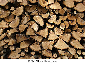 Wood Pile - A macro shot of a wood pile.