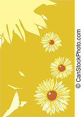 Flower Poster Layout - Black Eyed Susan flowers in a tabloid...