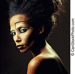 make-up of African-American women