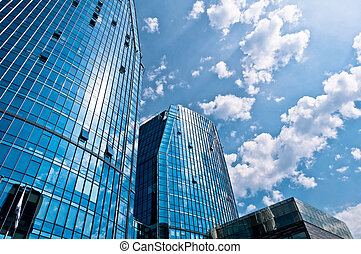 Modern Business Buildings - Blue Modern Architecture...