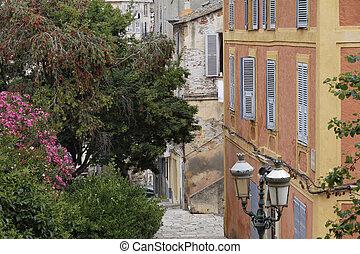 Old town of Bastia, Corsica, France - Od town of Bastia,...