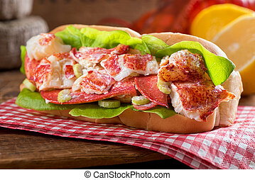 Lobster Roll - A delicious freshly made lobster roll with...