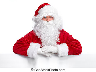 Santa Claus with banner - Christmas Santa Claus with banner...