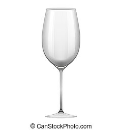 Wineglass object on white background