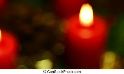 dvent wreath with burning candles - advent wreath with...
