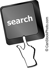 Computer keyboard key with search button