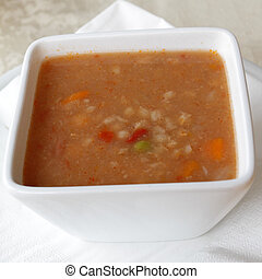 Rustichella- vegetables and legumes soup ( minestrone )