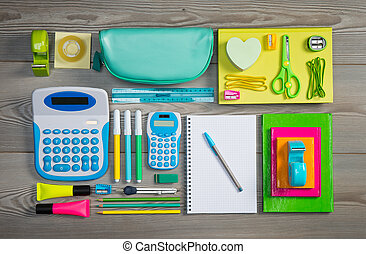 Tidy student - Stationery and student equipment perfectly...