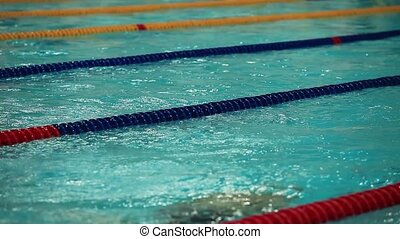 Swimming breaststroke - Swimming competitions close to rear...