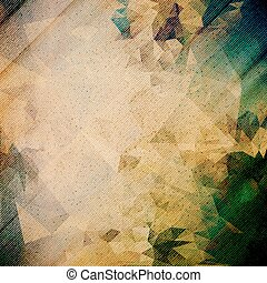 Abstract wooden background Triangle design vector...