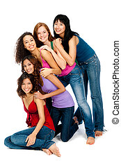 Diverse Teenagers - A group of teenagers with diverse...