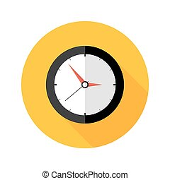 Deadline Clock Flat Circle Icon - Illustration of Deadline...