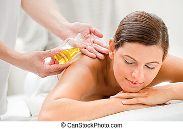 Woman in Spa - An attractive caucasian woman getting...