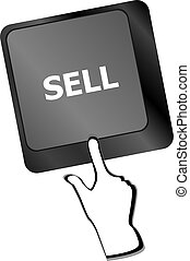 sell written on keyboard keys showing business or finance concept