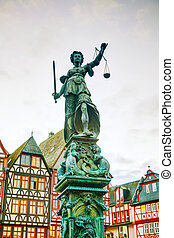 Lady Justice sculpture in Frankfurt, Germany - Lady Justice...