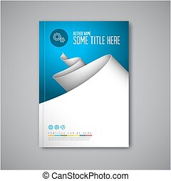 Modern Vector abstract brochure design template - Modern...