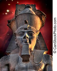 Colossus of Ramses II and Cone Nebula (Elements of this...