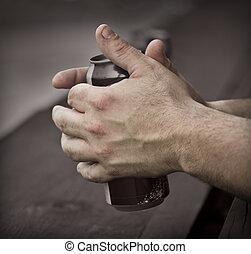 mãos, trabalhando, homem