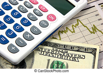 Financial planning calculator closeup - Financial planning...