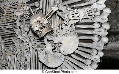 Hora, katolikus, minden,  sedlec, Természetjáró,  kutna, elhelyezett, cseh, temető,  Ossuary, szenteki, római, kápolna, legtöbb, külváros,  sedlec, templom, kicsi,  visited, alatt, köztársaság, a