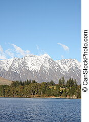 Remarkables mountains in New Zealand - Across Lake Wakatipu...