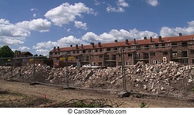 Urban renewal, demolition of an urban area - manual -...