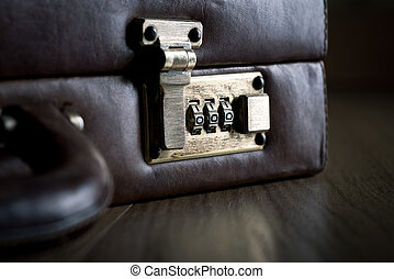 Security briefcase with lock