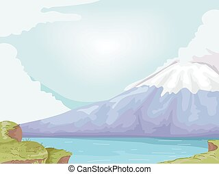 Mt Fuji - Illustration Featuring Mt Fuji of Japan