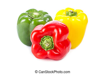 Bells peppers - A fresh and tasty bells peppers on white...