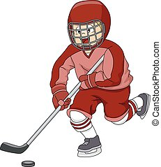 Ice Hockey Player - Illustration Featuring an Ice Hockey...