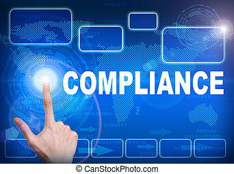 Touch screen digital interface of compliance concept
