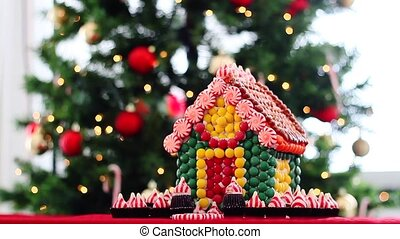 Christmas Gingerbread House and tree