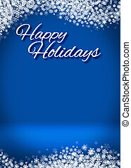 Happy Holidays Winter Background - Happy Holidays Winter...