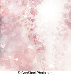 Abstract holiday hearts background - Abstract holiday...
