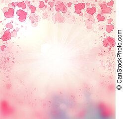 Valentine Hearts Pink Background. - St.Valentine's Day...