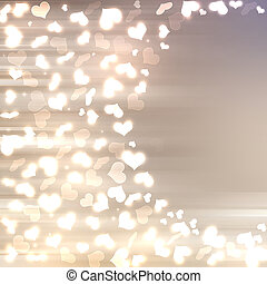 Abstract heart bokeh background - Abstract heart bokeh...