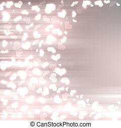 Abstract heart bokeh background
