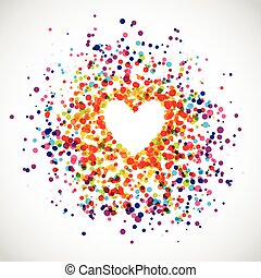 Rainbow Love Background - Background of rainbow dots in the...
