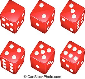 Dice - Illustration of a set of red dices