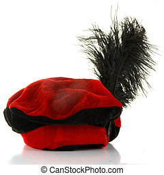 "zwarte piet - a hat of the dutch figure called ""zwarte..."