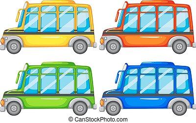 Buses - Set of four mini buses