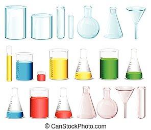 Ciencia, contenedores,