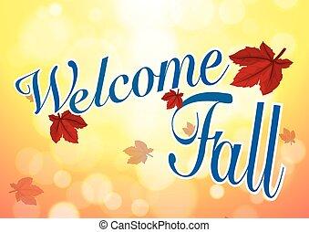 A template welcoming the Fall season