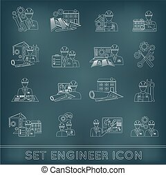 Engineer Icon Outline - Engineer construction equipment...