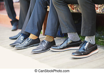 Business socks - Colored socks to suits