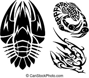 Zodiac Signs - cancer Vinyl-ready vector set - Zodiac Signs...