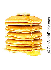 Pancakes with syrup and butter - A big stack of pancakes...